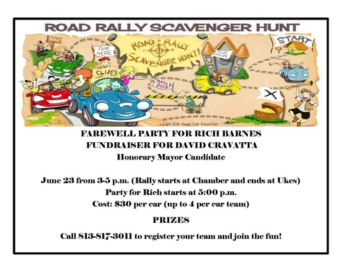 Road Rally Scavenger Hunt For Honorary Mayor