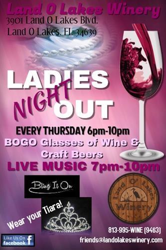 Wesley Chapel Nissan Bogo >> Ladies Night @ Land O' Lakes Winery