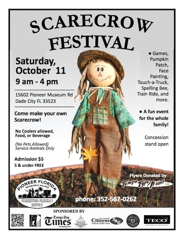 scarecrow festival at the pioneer florida museum village