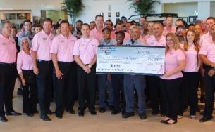 The Williams Automotive Group Dealerships Wesley Chapel Toyota Honda And Tampa Donated A Large Sum To Mof Cancer Center On